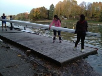 Young scullers going out in a double - Cerea Rowing Club, Torino Italy